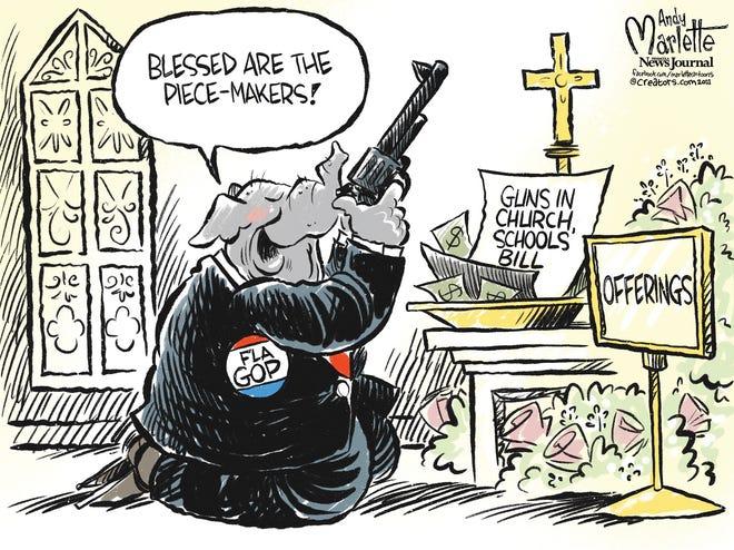Marlette cartoon: Official religion of the Florida Legislature