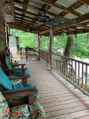 The river cabin at Blue Heron Landing Campground in Cottageville.