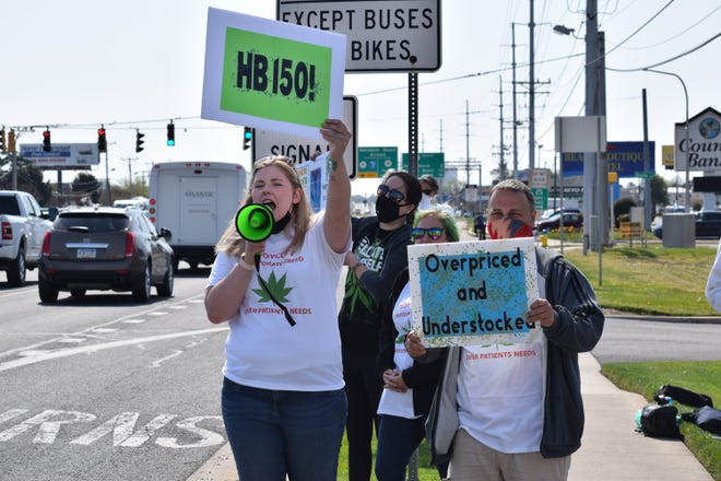 Frankford resident Lillyanne Ternahan (left) is leading a series of protests against Delaware medical marijuana providers that testified against a bill that would legalize recreational marijuana.