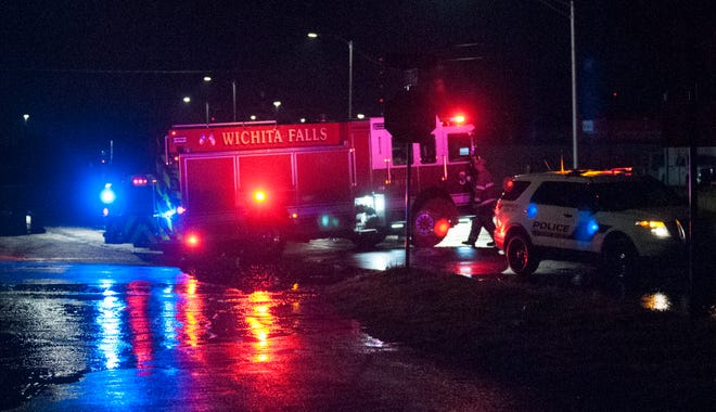 Wichita Falls emergency responders went to a report of a water rescue Wednesday morning on East Scott Avenue. Overnight storms resulted in flash flooding in the area