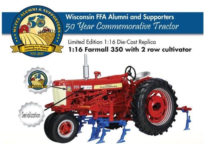 WI FFA Alumni and Supporters offer 50th anniversary commemorative tractor to general public.
