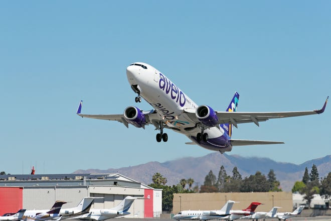 Avelo Airlines began service April 28, with its inaugural flight from Hollywood Burbank Airport to Santa Rosa, California.