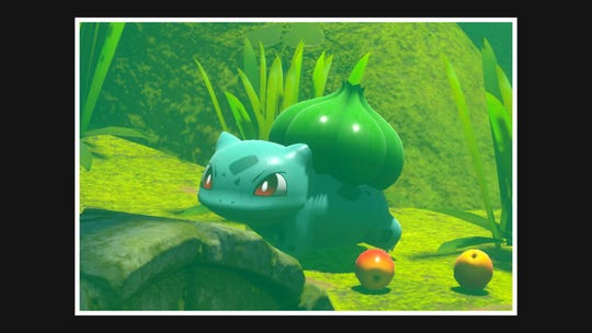 A bulbasaur appears in the video game 'Pokemon Snap.'
