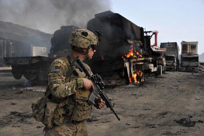 U.S. soldier on June 19, 2014, in Afghanistan.