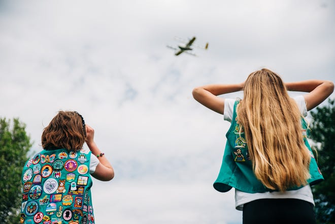 Wing, a subsidiary of Google's parent company Alphabet Inc., reached out to the Girl Scouts of Virginia Skyline about making cookie drops to help boost cookie sales, which are still being impacted by the COVID-19 pandemic.