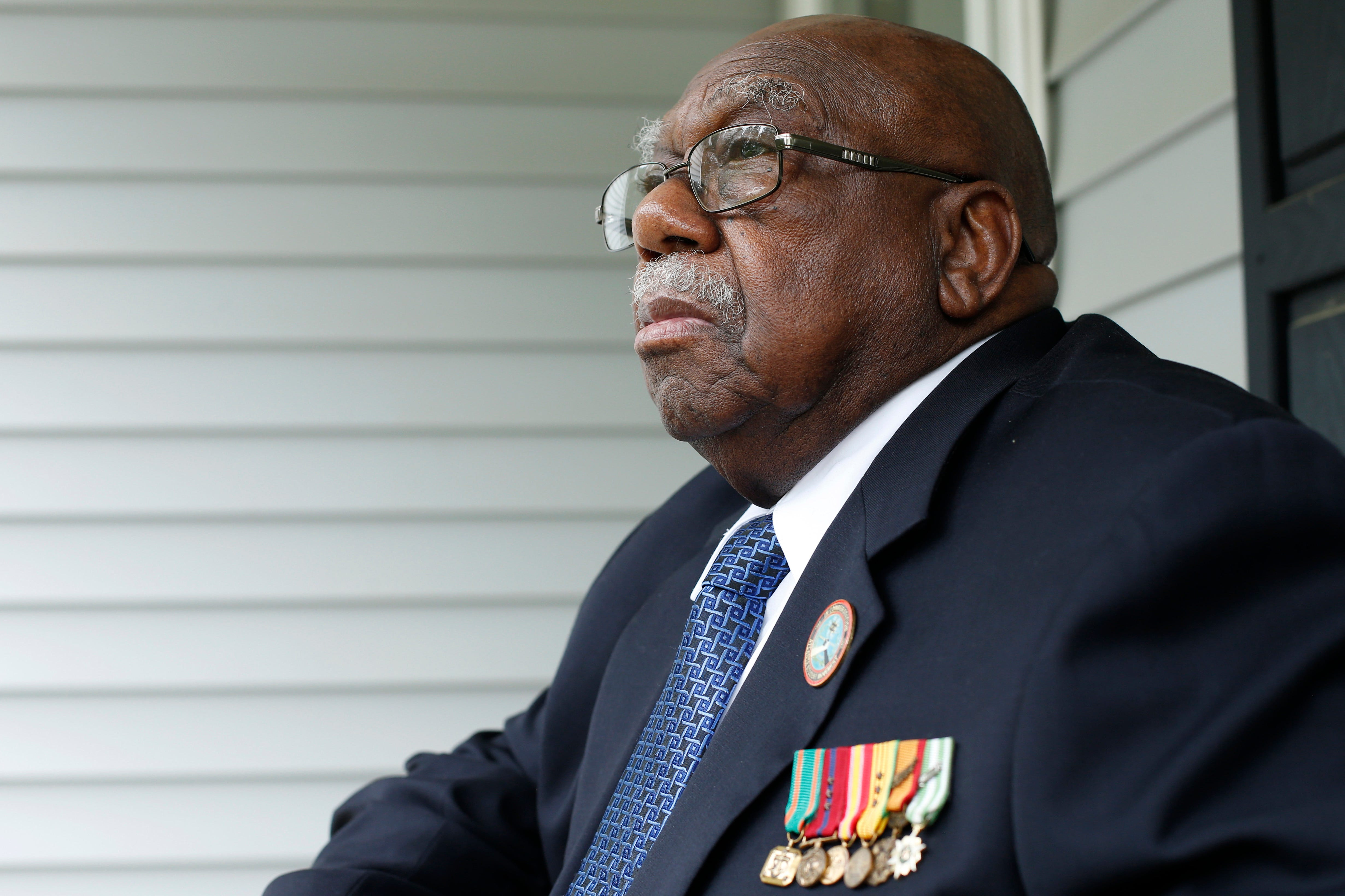 Charles Person, one of the original 13 Freedom Riders, at his home in Atlanta on April 29, 2021.