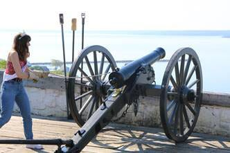 Reigning Lilac Festival Queen Ava Sehoyan will officially open Fort Mackinac for the year on Saturday with the firing of the canon at the fort.