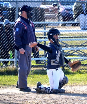 Sean Postula and the Mackinaw City baseball team rolled to a sweep over Wolverine on Wednesday.