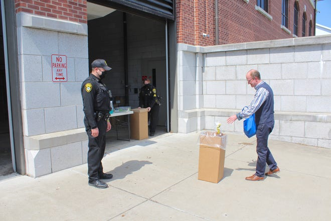 Yates County Court Security Officer Derek Christensen and Court Security Supervisor Sgt. Diana DeKay took in unwanted drugs from citizens like local attorney Carl Schwartz, disposing of medications left behind by former tenants of his rental apartments.