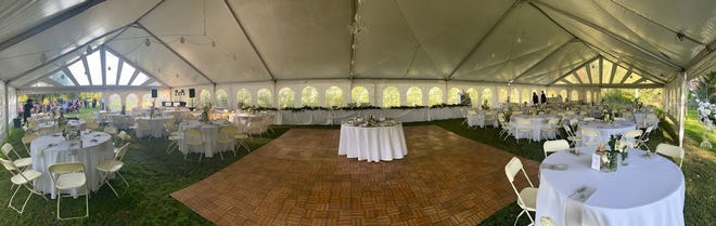 Lincoln High School's prom next week will be held in a tent like this one at The Hill with the View venue.