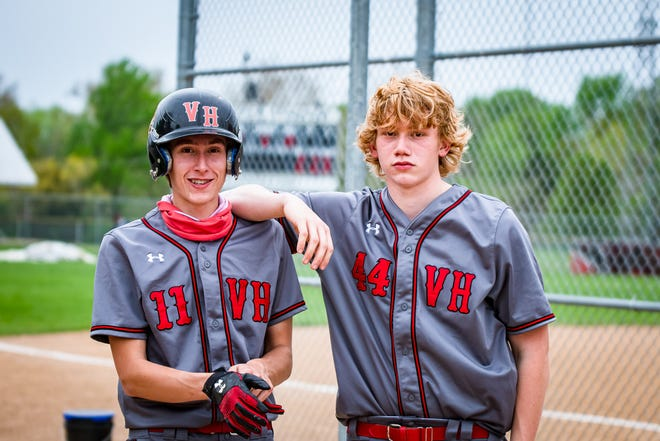 The Messick brothers, Kobe, left, a senior, and Korey, a sophomore, are relishing the chance to finally play together this season for Van Horn High School after the COVID-19 pandemic wiped out last season.
