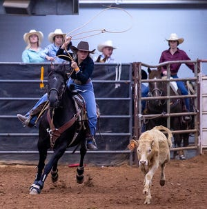 Calf roping was among the events at the annual Somervell County Rodeo.