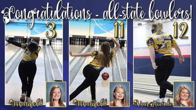 Hillsdale Hornets Bowlers were Academic All-State