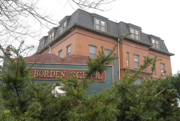 Fall River's N.B. Borden School is seen here in this 2012 file photo.