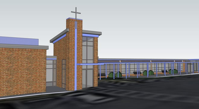 A rendering shows what Immaculata School's future STEM Discovery Lab will look like.