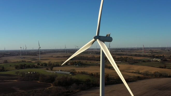 A photo of the High Prairie Renewable Energy Center.