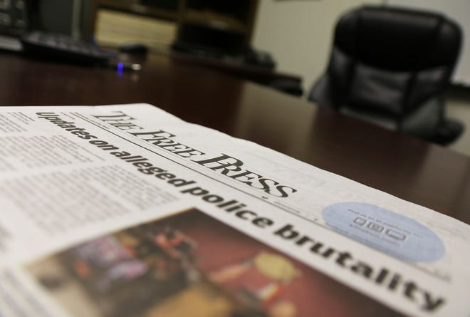 A copy of The Free Press shows updates on alleged Kinston Police brutality.