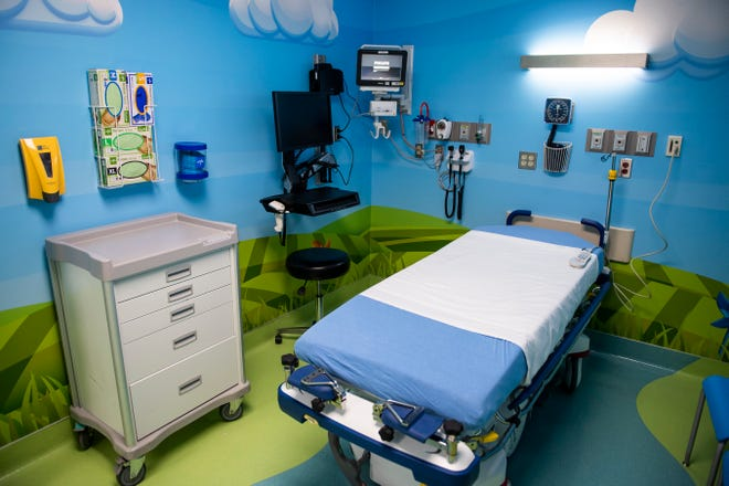 The UMC Children's Emergency Center has eight beds that have been updated with new equipment and to help children feel more comfortable Thursday, April 29, 2020, in Lubbock, Texas.