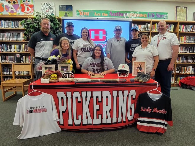 ShaeLa Lawrence signed her letter of intent to play college softball at Hinds Community College on Wednesday.