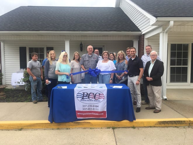 The Greater Beauregard Chamber of Commerce welcomed Perkins Climate Control to their new office in DeRidder.