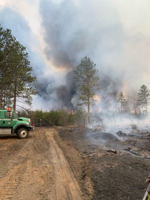 Nearly 5,000 acres of forest were destroyed by a fire in Iosco County outside of Oscoda on the Lake Huron side of northern Michigan.