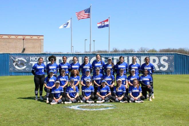 The Crowder College softball team