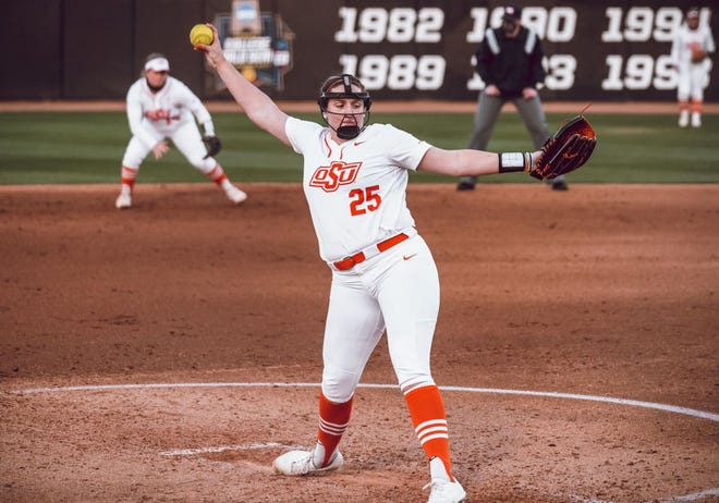 Oklahoma State senior Carrie Eberle leads the team with a 0.84 earned-run average.
