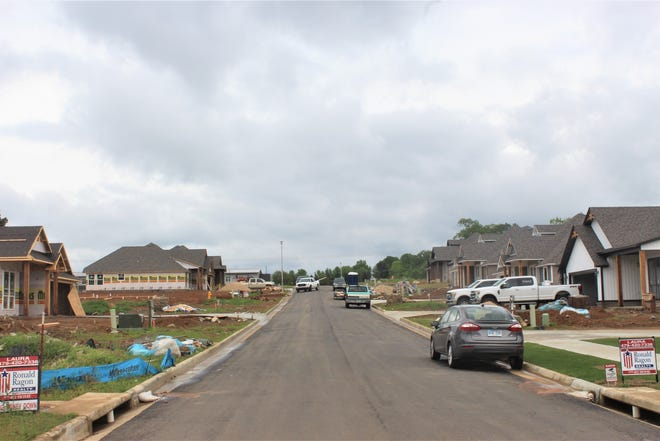 A new housing edition is under construction Van Buren on Mimosa Street. Van Buren saw an increase in residential building permits in 2020.