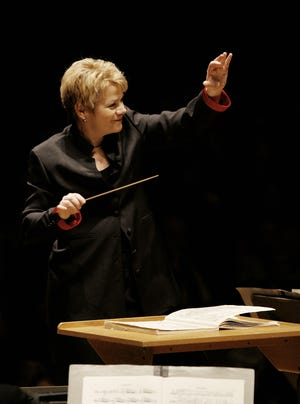 Conductor Marin Alsop will lead the New World Symphony of Miami Beach at the Kravis Center on Dec. 12.