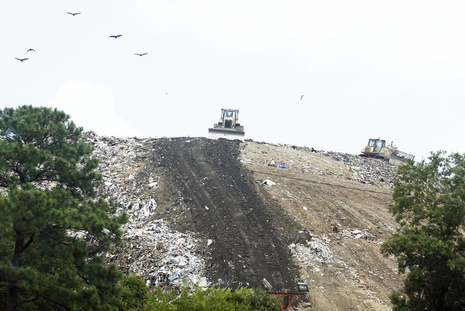 The Tri-City Regional Landfill is seen in an August 2015 file photo from East Washington Street in Petersburg.