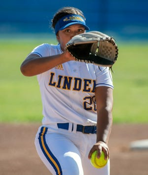 Linden senior Hannah Ortega, who did her share of damage in Wednesday with five strikeouts, giving her 131 total on the season.