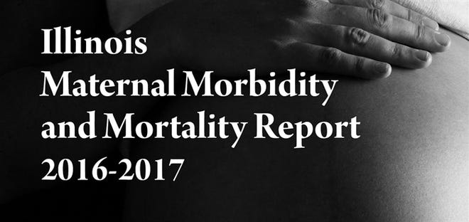 Cover of the Illinois Department of Public Health's Illinois Maternal Morbidity and Mortality Report 2016-2017.