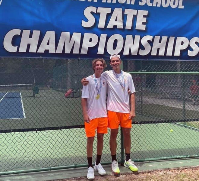 Aiden Little and Thomas Navarro of Southeast High won the FHSAA Class 3A doubles championship with a pair of victories Wednesday in Altamonte Springs.