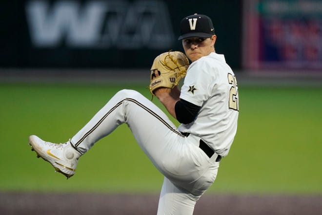 Vanderbilt pitcher Jack Leiter, son of 19-year major leaguer Al Leiter, could be the No. 1 pick in the Major League Baseball draft.
