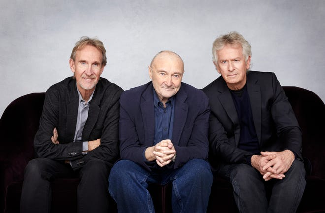 Genesis: (from left) Mike Rutherford, Phil Collins and Tony Banks