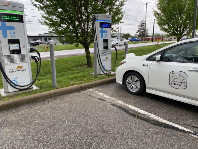 The city of Upper Arlington operates DC-Fast electric vehicle charging stations, which can be used by the public, at the Municipal Services Center, 3600 Tremont Road, and these shown at the Public Service Department, 4100 Roberts Road. It's one of a number of steps city officials have taken toward a goal of eliminating all waste, pollution and emissions by 2030.