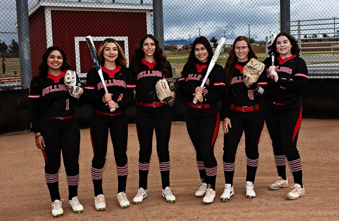 Oak Hills'  Alendy Aguilar, Adriana Bueno, Jordan Ream, Bianca Hernandez, Karleigh Bennington and Jillian McCune (from left to right) all recently signed national letters of intent to continue their softball careers at various universities.