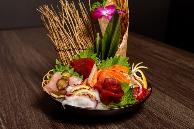 An array of sashimi at The Madness.