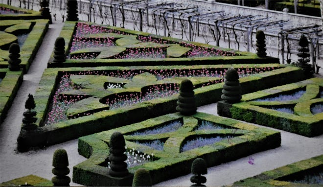 Villandry with its amazing restored 16th century formal gardens