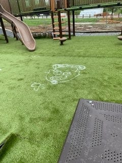 Officials say the new playground set to open in Colerain Park in early June was vandalized on Wednesday.