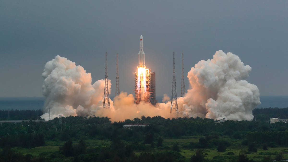 China launches main part of its 1st permanent space station 1