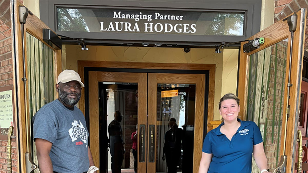 He was homeless and would panhandle outside a steakhouse. Now he works there. 2