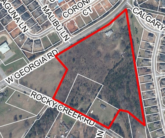 The Greenville County Planning Commission and county staff are recommending denial of a rezoning request for a proposed apartment complex at West Georgia and Rocky Creek roads.