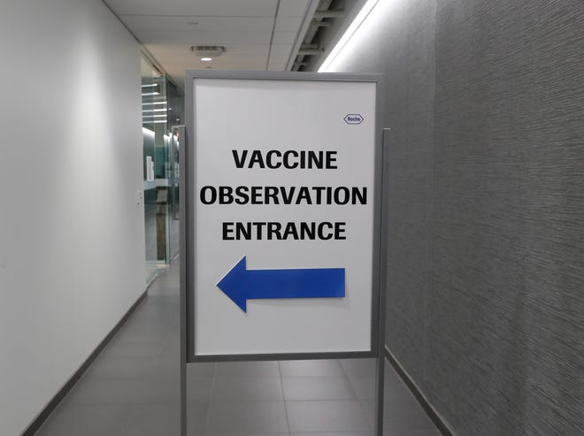 Employees and their family members can get vaccinated  Thursday, April 29, 2021, at Roche Diagnostics headquarters in Indianapolis.