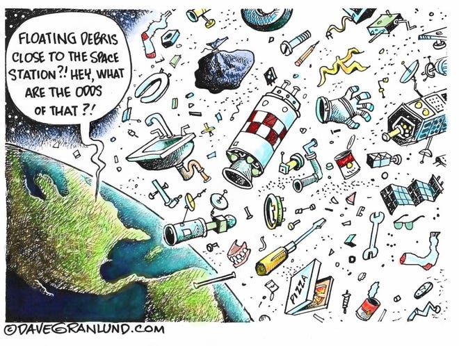 Space debris.