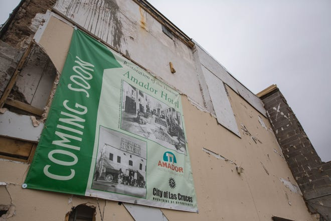 The Amador Hotel is pictured during restoration in Las Cruces on Thursday, April 29, 2021.