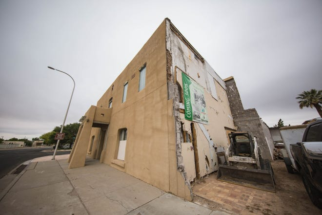 The city is determining how much, if any, funding will go toward restoring the Amador Hotel, pictured here Thursday, April 29, 2021. The historic hotel sits at the corner of Amador Avenue and Water Street.