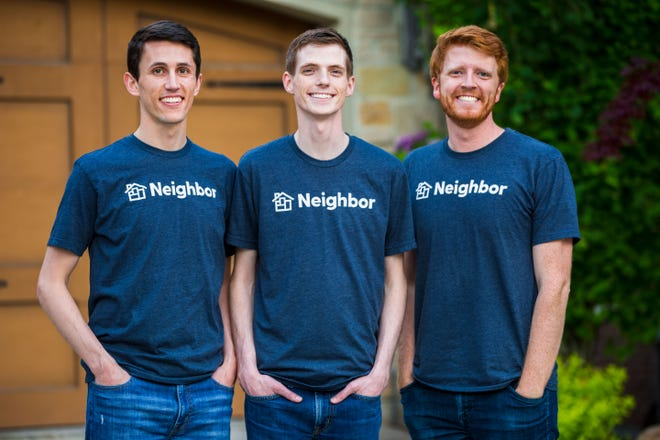 Joseph Woodbury, Colton Gardner and Preston Alder, of Mesa, co-founded Neighbor, a company to connect people who need storage with those who have unused space in garages, spare bedrooms, backyard sheds and driveways.