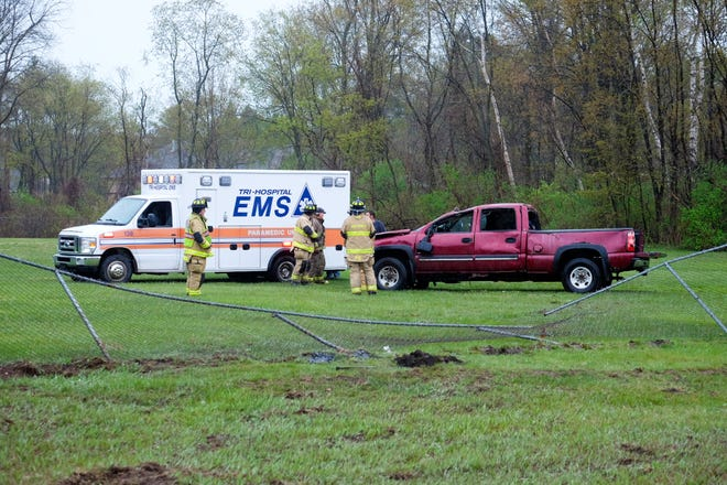 One person was seriously injured following a crash on M-25 Thursday.