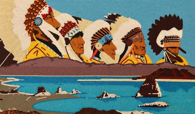 Artwork by Burton Pete is part of the Indigenous Beadwork of the Great Basin exhibit on display through Oct. 23 at the Stewart Indian School Cultural Center & Museum in Carson City. Photo provided by Stewart Indian School Cultural Center & Museum.